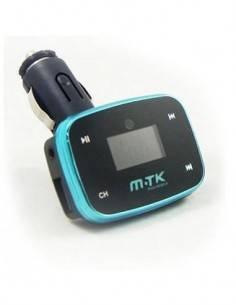MTK Transmisor FM de Coche con Mando Negro/Azul  USB/MicroSD