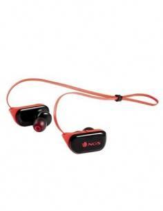 NGS Auricular Estereo Bluetooth Rojo Artica Ranger Red Manos Libres, Resistente al Agua