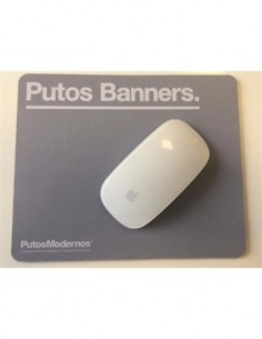 "Alfombrilla PC ""PUTOS BANNERS"" PM0655 Gris"