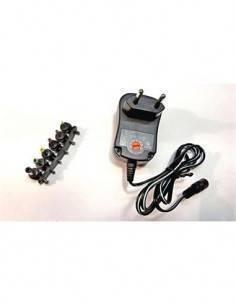 SURMEDIA Alimentador Universal Multivoltaje 100-240V 3-12V 1000mAh 12W 6 Clavijas AUS100