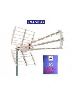 SURMEDIA Antena UHF 5G Premium 20Dbi Con Filtro 5G CH21-48 SMT905G