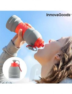 INNOVAGOODS Botella Agua Plegable de Silicona Con Mosqueton 580ml V0101119