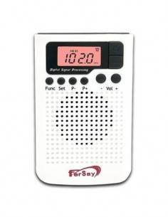 FERSAY Radio Digital RDIG-2020B De Bolsillo AM/FM Blanco