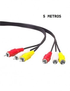 CROMAD Cable 3 Rca/M A 3 Rca/M 5Mtrs