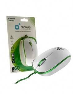 CROMAD X60 Raton Usb 2.0 3 Botones Blanco/Verde