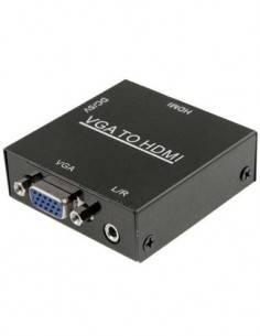 CROMAD Mini Conversor VGA A HDMI Con Audio Jack 3.5mm CR0724