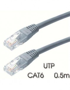 CROMAD Cable Red RJ45 UTP Cat6 0.5 Mtrs Gris