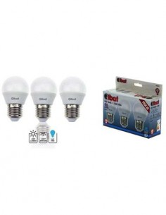 ELBAT Pack 3 Bombillas Led G45, 6W, 480Lm, E14, Luz Calida