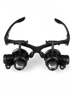 CROMAD Gafas Microsocopio Lupa 15x, 20x, 25x CR0961