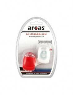ARCAS Kit DE 2 Luces Led Roja/Blanca Para Bicicleta