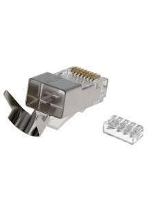 Clavija RJ45 Cat6 UTP/FTP Para Crimpar Metalica CON731