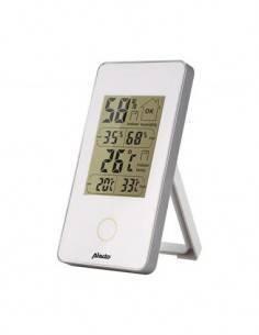 ALECTO Estacion Barometrica Compacto WS-75 Blanca Temperatura Interior/Exterior con Sensor Exterior,
