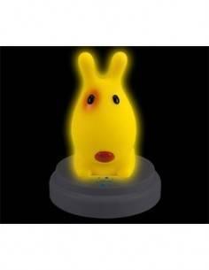 ALECTO Lampara de Noche SLD061  Led Tactil Con Autoapagado Diseño Perrito Amarillo