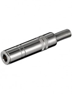 Clavija Jack 6.3mm/Hembra Estereo Metal de Soldar CON698