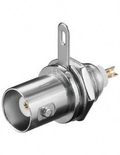 Conector BNC/H Panel Para Soldar CON409