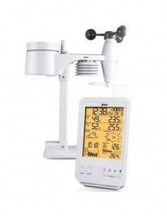 ALECTO Estacion Barometrica Digital WS-4800 Con Sensor Ext Inalambrico Humedad, Alarma Hielo, Fase L