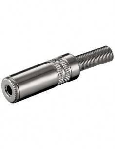 Clavija Jack 3.5mm/M Estereo de Metal para soldar CON694