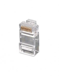 Clavija RJ45 Cat6 8p/8c Easy Transparente CON1051