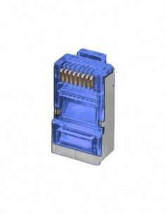 Clavija RJ45 FTP Cat6 8p/8c Metalica Azul CON046