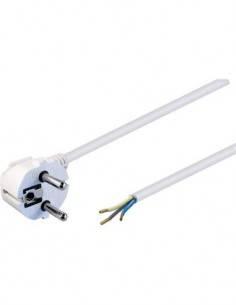 NIMO Cable Alimentacion Tipo 8 Acodado 5Mtrs Blanco WIR058