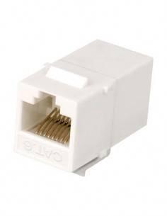 Adaptador Empate Keystone RJ45 H/H Cat6 UTP Plastico Blanco CON927