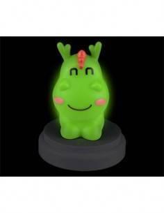 ALECTO Lampara de Noche SLD062 Led Tactil Con Autoapagado Diseño Dragon Simpatico Verde