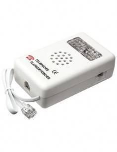 ACTF01 Timbre Adicional Con Sonido Y Luz Para Telefono Fijo