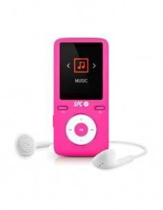 SPC 8488P Reproductor Mp4 8Gb Rosa Radio Fm, Micro SD, Grabadora