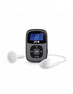 SPC Reproductor MP3 8Gb 8648N Negro Radio Fm, Micro SD.Con Clip Deportivo