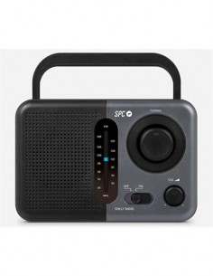 SPC Radio Portatil FM Aux In Chilly 4574 Negra