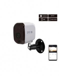SPC Camara Vigilanci Seguridad Inteligente Wifi MAGNES 6304 Blanca Sensor Movimiento,Vision Nocturna