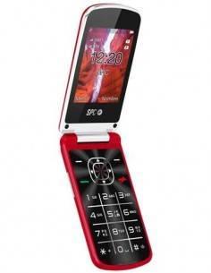 SPC Telefono Movil Senior EPIC Rojo Bluetooth, Camara, Radio FM