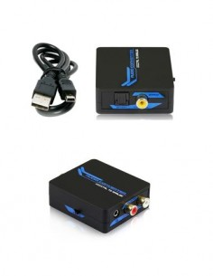 DCU Convertidor Audio Digital (Toslink, Coaxial) a Audio Analogico (2xRCA, Jack)