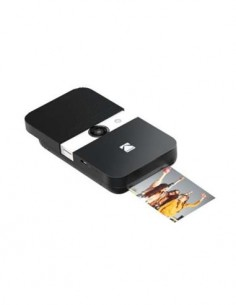 KODAK Camara de Fotos Digital Instantanea SMILE Negra Blanca 10Mpx, Micro SD