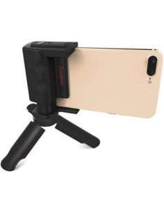 ADONIT PhotoGrip Disparador Remoto Bluetooth + Mini Tripode Compatible Con Android/iOS