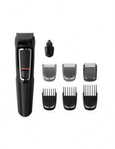 PHILIPS Kit Cuidado Personal MG3730 8 En 1 Afeitadora Barba /Corta Pelo/Nariz/Oreja Recargable, Lava