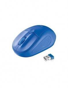 TRUST Raton Inalambrico 1000/1600Dpi Primo Azul, uso diestros y zurdos.