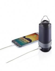 SWISS PEAK Bateria Externa Portatil 4000 Mah, Linterna Led, Luz Emergencia y Mosqueton