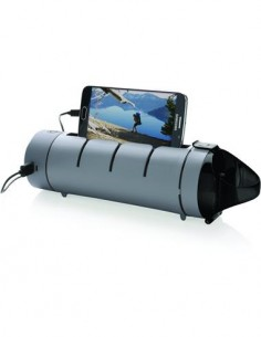 SWISS PEAK Botella de 560ml, Con Bateria Externa 5000Mah Y Funcion Soporte Movil