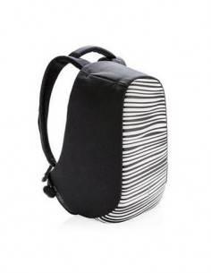 XDDESIGN BOBBY Mochila Antirrobo Zebra Con Puerto de Carga USB Exterior, Bandas Reflectante, Bosillo
