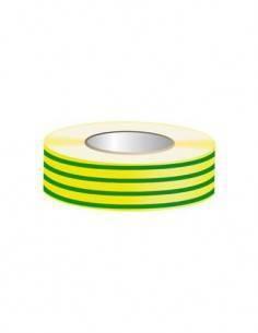 04-5082 Cinta Aislante 25X0.15mm Amarilla Verde Ignifuga 25mtrs