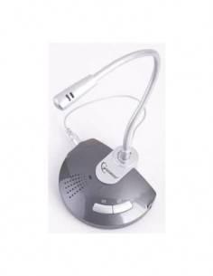 GEMBIRD Microfono Usb de Escritorio Con Entrada Linea Y Salida Sonido, Funcion de Correo Electronico
