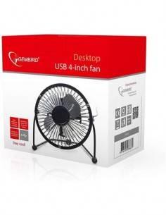 """GEMBIRD Ventilador Sobremesa USB 4"""" Negro NF-03"""