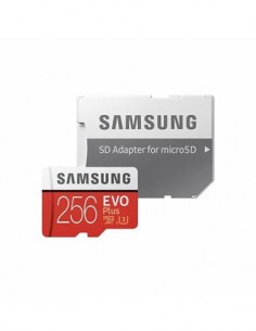 SAMSUNG Tarjeta Memoria SDXC 256Gb UHS-1 EVO Plus 100MB/s-90Mb/s 4K Clase 10 Con Adaptador