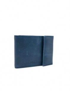 LUGUPELL Cartera Piel RFID Tarjetero y Monedero Azul Dakota 41195A