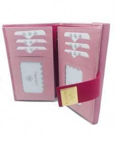 LUGUPELL Cartera Piel Mujer RFID Tarjetero y Monedero Rosa METAL LUXE 40521/7