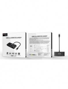 MTK Adaptador Tipo-C A Hdmi, Vga, Audio, Usb 3.0 4K BT954