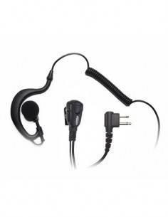 JETFON Micro Auricular Negro Rizado JR-1703 Motorola CP040 Con Soporte Oreja Negro
