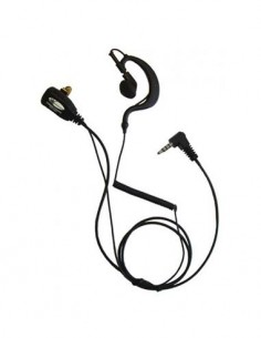 SIGMA Micro auricular SARI-1304-VX351 Para VX-351 Cable Negra Rizada