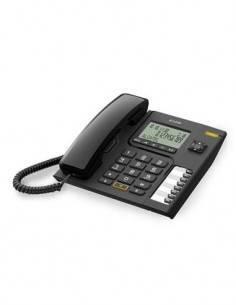 ALCATEL Telefono Fijo Sobremesa Con Pantalla Alfanumerica T76 Negro